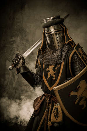 warrior: Medieval knight with a sword