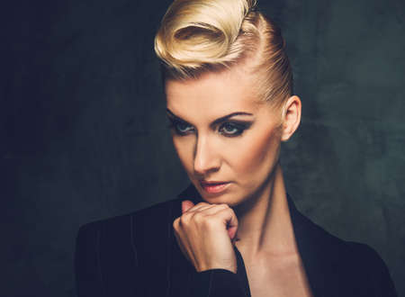Fashionable woman with creative hairstyle Stock Photo - 15647798
