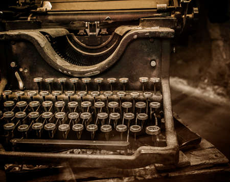 Old rusty typewriter  photo