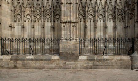 tourist feature: Old cathedral architecture details