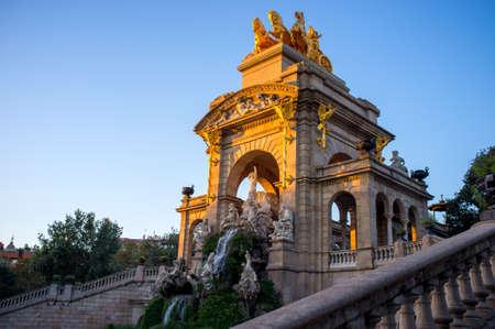 waterfall in the city: Fountain in a Parc de la Ciutadella, Barcelona