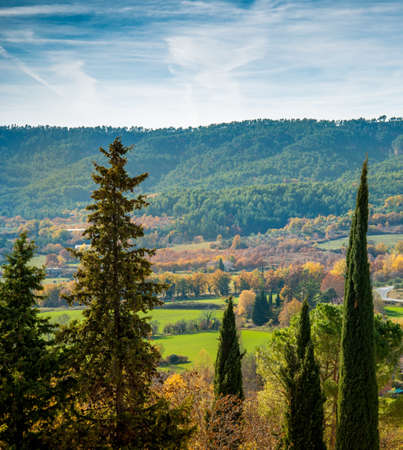 Beautiful autumn landscape view on sunny day Stock Photo - 16611528