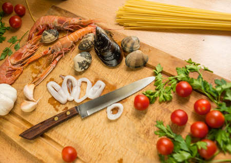 meal preparation: Seafood meal preparation process
