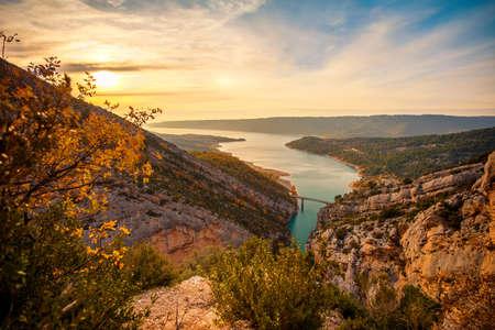 gorges: Beautiful view of Gorges du Verdon, France Stock Photo