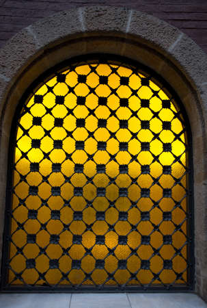 Decorative metal grating on window Stock Photo - 16752064