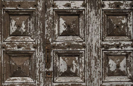 wicket door: Old wooden grunge door Stock Photo