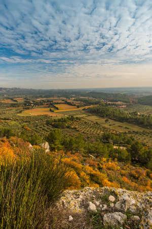 Beautiful panoramic view at  Les Baux-de-Provence, France Stock Photo - 16752078