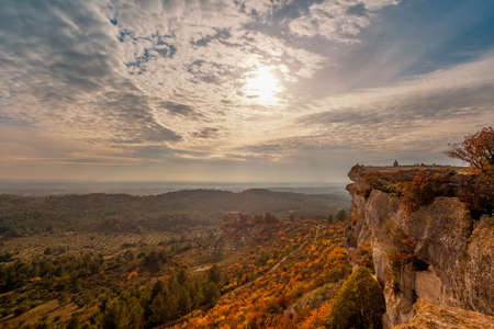 Beautiful landscape view at  Les Baux-de-Provence, France photo