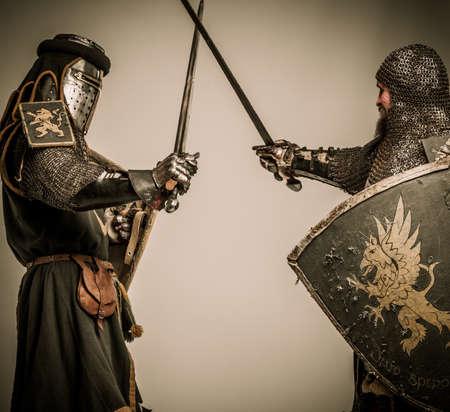 hauberk: Fight between two medieval knight