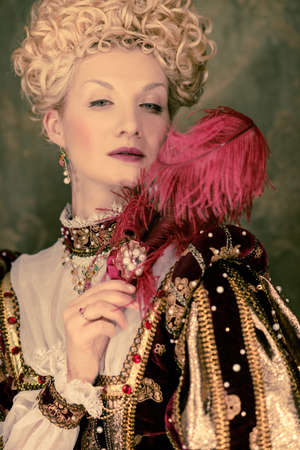 Her royal highness with plume Stock Photo - 17507830