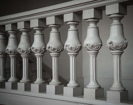 balustrade: Handrail on stairway in palace Stock Photo