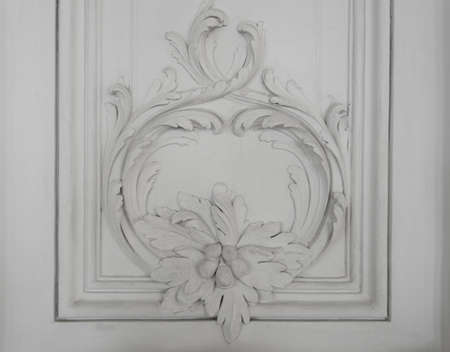 Luxury wall design with mouldings photo