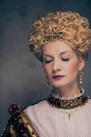 Portrait of beautiful haughty queen Stock Photo - 17889231