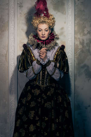 Haughty queen in royal dress  Stock Photo - 17889162