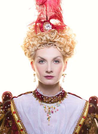 Portrait of beautiful haughty queen Stock Photo - 17889156