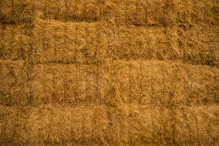 Close-up view of haystack photo