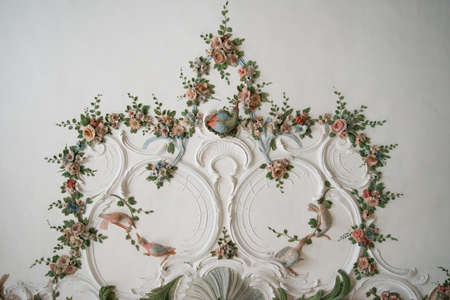 stucco facade: Wall with beautiful artistic architecture details