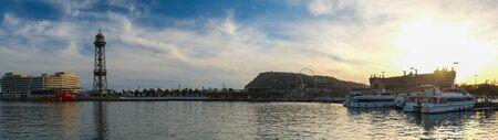 Barcelona city port panorama photo
