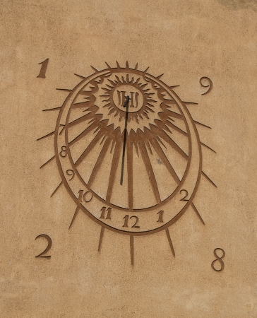Sun clock close-up photo