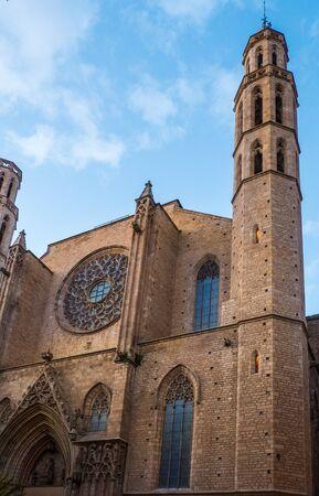 del: Santa Maria del Mar cathedral, Barcelona