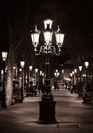 streetlight: Old street light in a city of Barcelona