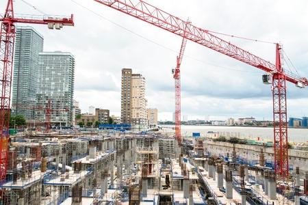 Construction yard in a modern city
