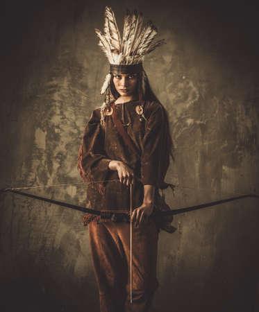 弓でインドの女性戦士