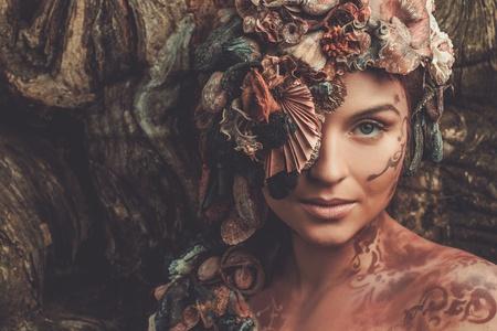 魔法ニンフ女性 写真素材