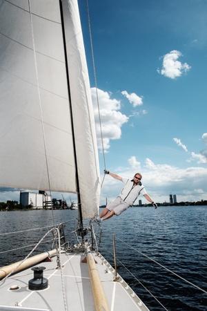 Captain on a yacht during race