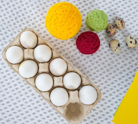 Close-up Easter Egg Painting And Decorating Tools. Stock Photo ...