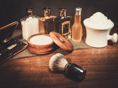 Gentleman's accessories on a luxury wooden board Standard-Bild