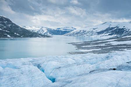 Scenic view of Jostedalsbreen glacier. Norway