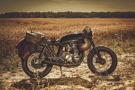The vintage custom cafe racer.