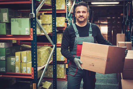 Storekeeper working in a warehouse