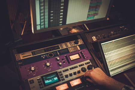 Boutique recording studio equipment view Stock Photo - 76461541