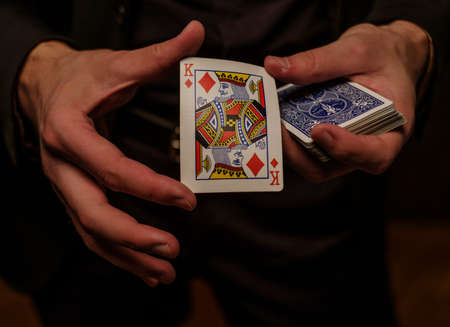 Man showing tricks with cards