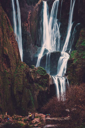 Berber Dorf in der Nähe von Ouzoud Wasserfall in Marokko Standard-Bild - 78788638
