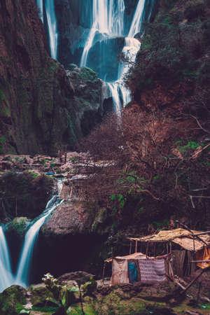 Berber village near Ouzoud waterfall in Morocco