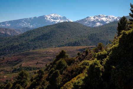 Morocco, The High Atlas Mountain range view