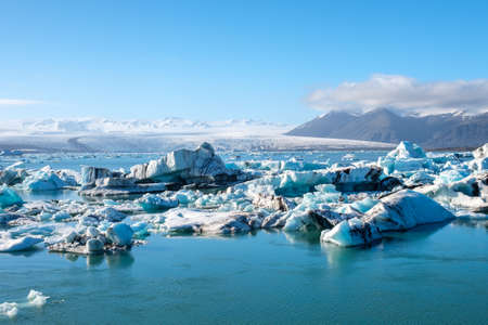 View of melting down glacier due to global warming. Фото со стока - 88069205