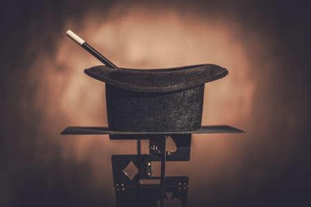 탑 모자와 마술 지팡이. 스톡 콘텐츠 - 88650495