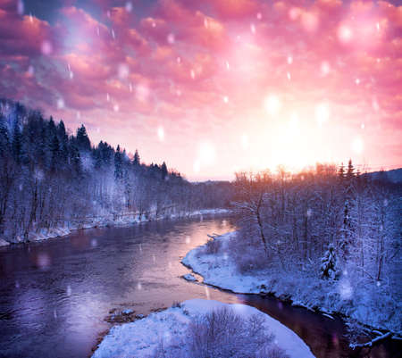 View of a beautiful winter landscape.