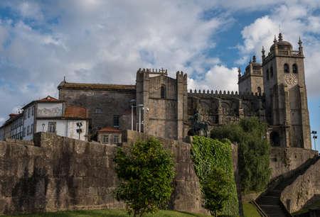 포르토 성당 포르토, 포르투갈 않습니다. 스톡 콘텐츠