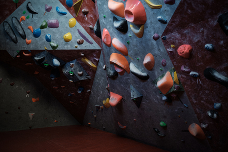 Interrior of a bouldering gym