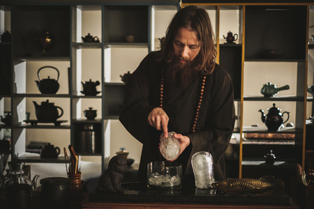 Tea ceremony is perfomed by tea master