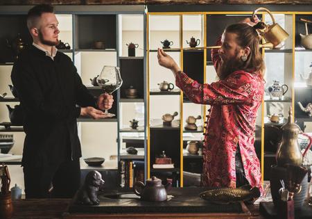 Tea ceremony and his protege