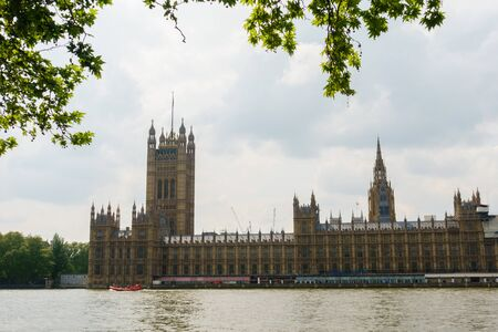 Westminster Abbey view in London Stock Photo