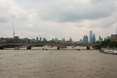 View of the skylines of the City of London