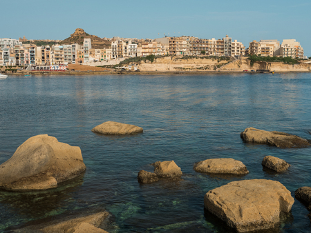 View of a beautiful Marsalforn bay, Gozo - Malta