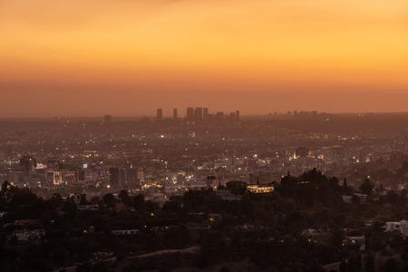 Panoramic view of Los Angeles, USA. Stok Fotoğraf